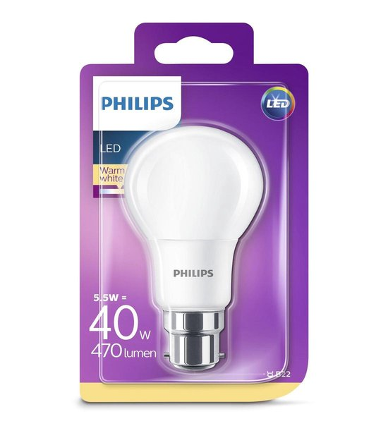 | Philips LED lamp Mat 8W (60W) E27 warm wit P577073