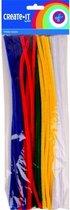 Chenilledraad in diverse kleuren 30 cm 50 stuks - Hobby artikelen en knutselen