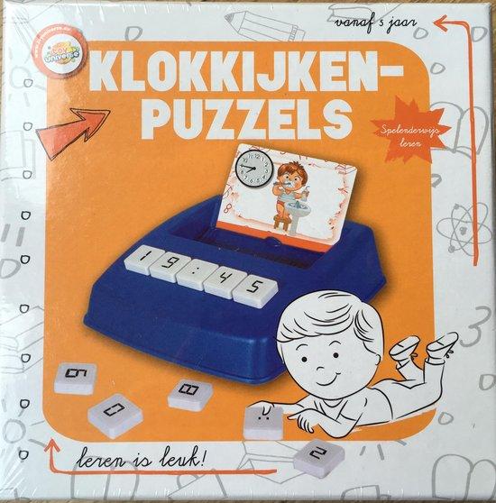 Klokkijken puzzels educatief spel