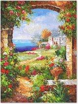 De Geheime Tuin - Bloemen Landschap - Outdoor Schilderij op Canvas voor buiten