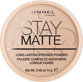Rimmel London Stay Matte Pressed Powder - Silky Beige - Beige