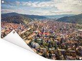 Uitzicht over de Duitse stad Freiburg Tuinposter 80x60 cm - Tuindoek / Buitencanvas / Schilderijen voor buiten (tuin decoratie)