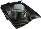 Klober Dubbele Kabeldoorvoer Antraciet Kabel Airco, Zonnepanelen, Boiler, etc