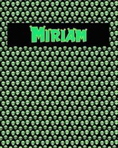 120 Page Handwriting Practice Book with Green Alien Cover Miriam