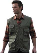 Outdoor/werk bodywarmer groen voor heren - Outdoorkleding/werkkleding - Mouwloze vissers/tuinier vesten M (38/50)