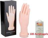Oefenhand kunstnagels inclusief 100 nagels