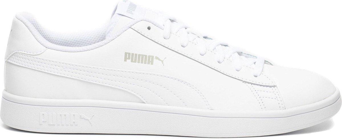 PUMA Smash v2 L Unisex Sneakers - Puma White-Puma White - Maat 40