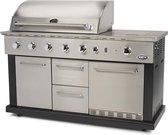 Boretti Luciano Luxe Gasbarbecue met Ingebouwde Koelkast - 5 Branders - RVS