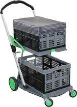 CLAX trolley (groen) + 2 klapkratten + ClaxCAP