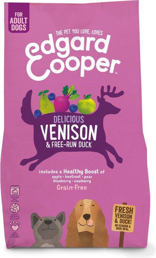 Edgard & Cooper Verse Hert & Scharreleend Brok - Voor volwassen honden - Hondenvoer - 2.5kg