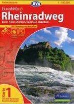 BVA-Radreisekarte Eurovelo 6 Karte 01. Rheinradweg 1 : 100 000