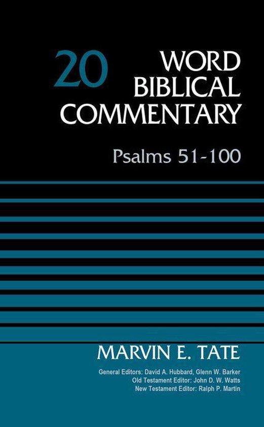 Boek cover Psalms 51-100, Volume 20 van Marvin Tate (Onbekend)
