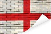 De vlag van Engeland gemaakt van bakstenen Poster 180x120 cm - Foto print op Poster (wanddecoratie woonkamer / slaapkamer) XXL / Groot formaat!