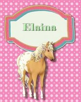 Handwriting and Illustration Story Paper 120 Pages Elaina