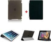 iPad 2, 3, 4 Smart Cover met/inclusief Achterkant Back Cover Hoes Black/Zwart Smartcover combinatie hoesje Companion Case | BetaalbareHoesjes.nl