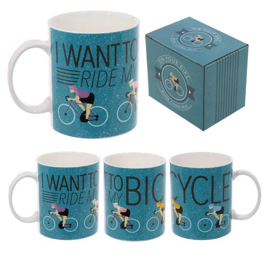 I want to ride my bicycle Racefiets Koffiemok