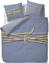 Covers & Co Tied Up! Dekbedovertrek - Lits-jumeaux - 240x200/220 cm - Blauw
