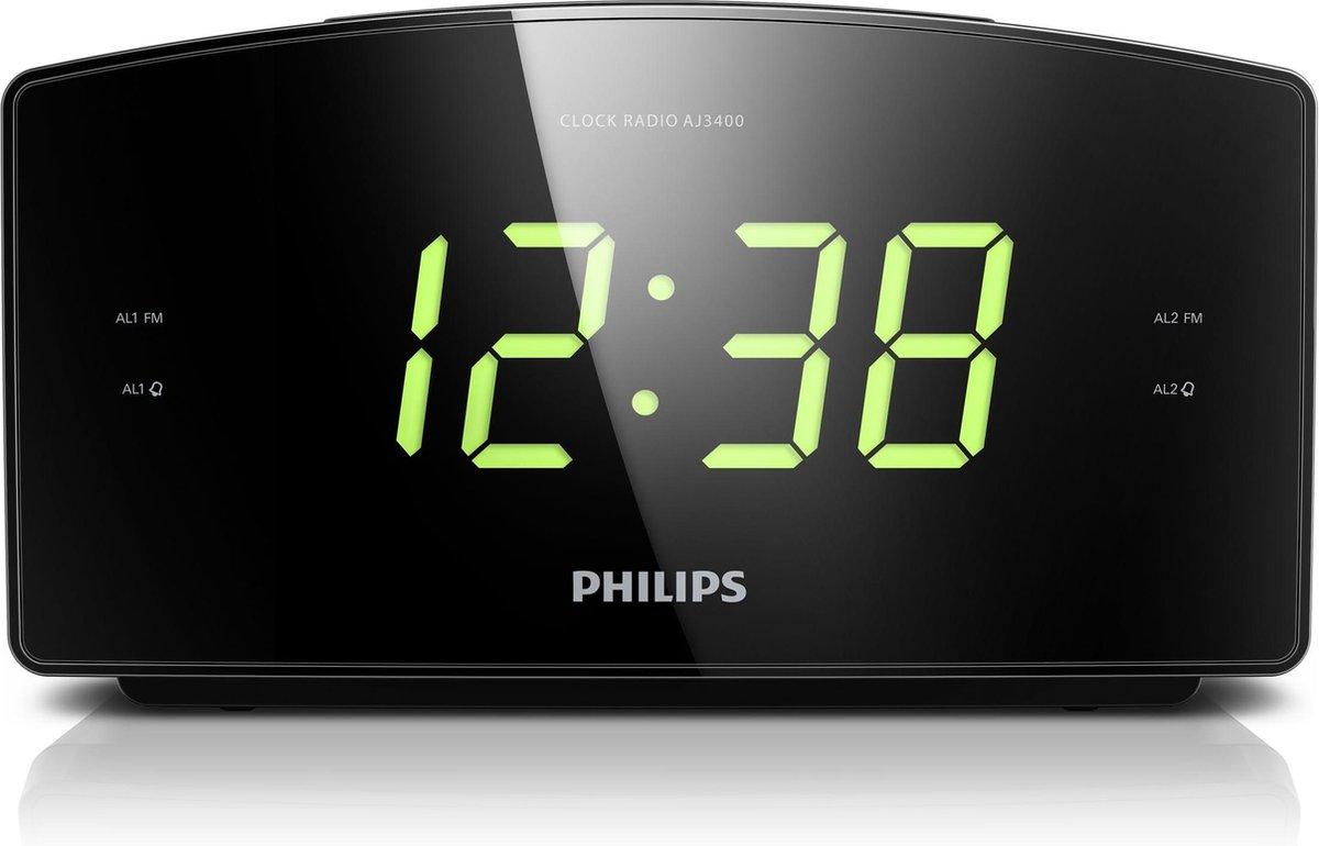 Philips AJ3400 - Wekkerradio - Zwart op De Prijzenvolger