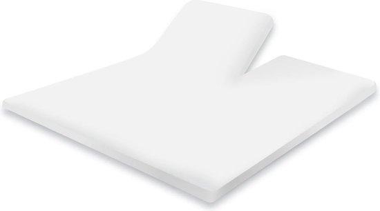 Splittopper Hoeslaken Katoen Perkal Elegance - wit 160x200cm - Hoeslaken Split Enkel - Single Split