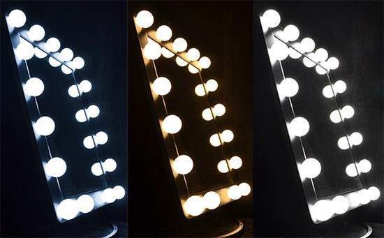 Grote verlichte make up spiegel LED hollywood spiegel 3x licht stand - dim functie spiegels - Gerard Brinard