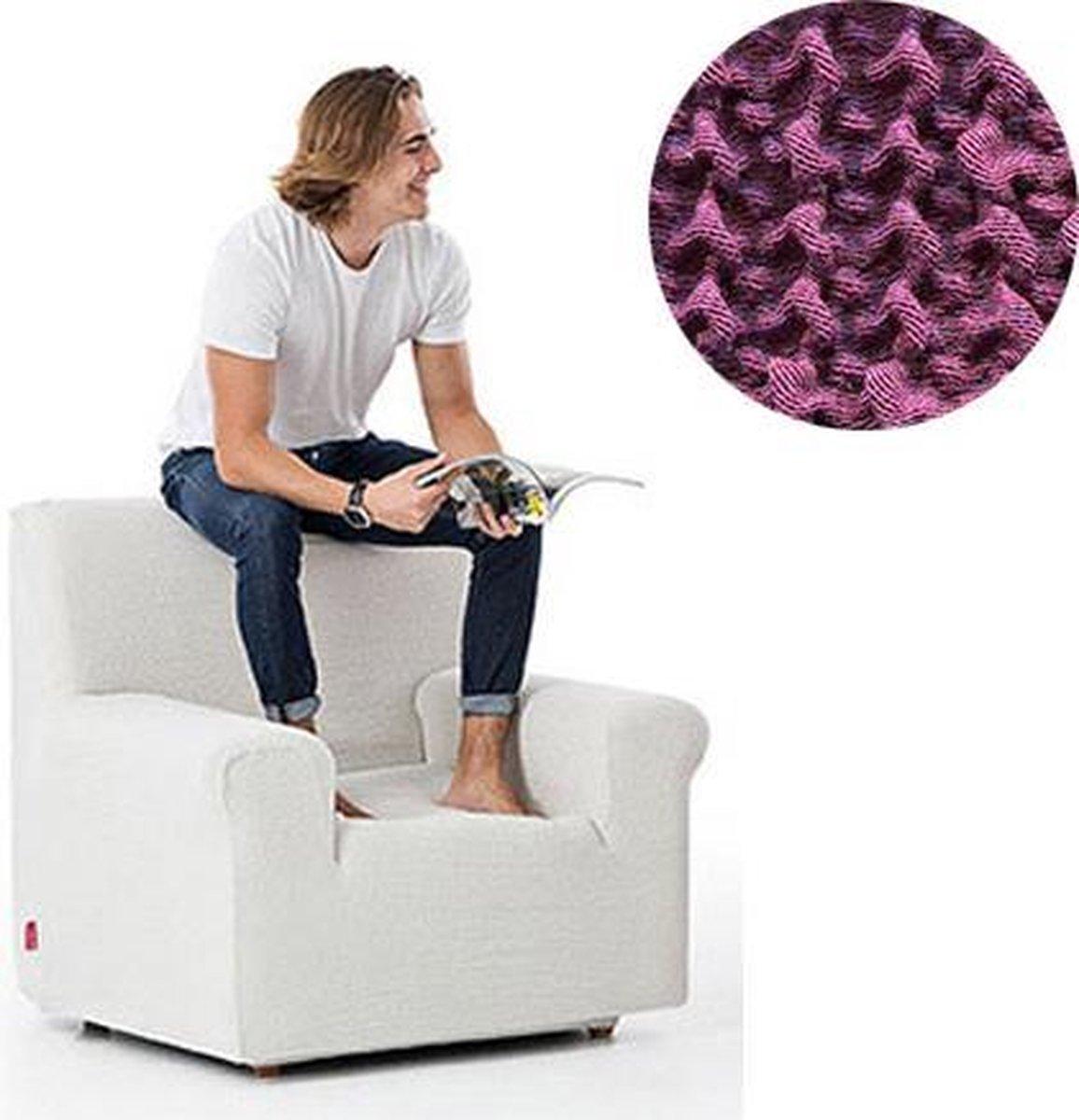 Milos meubelhoezen - Hoes voor fauteuil 70-110cm - Paars - Verkrijgbaar in verschillende kleuren!