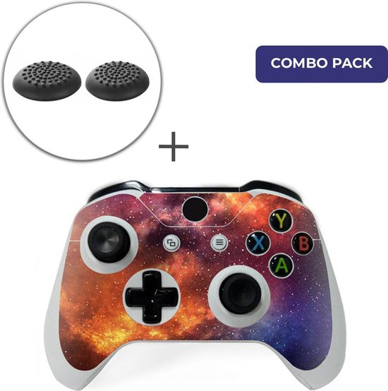 Starry Sky Combo Pack – Xbox One Controller Skins Stickers + Thumb Grips