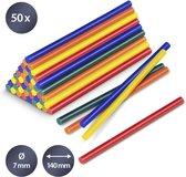 TROTEC Lijmsticks-set gekleurd, 50 stuks (Ø 7 mm)