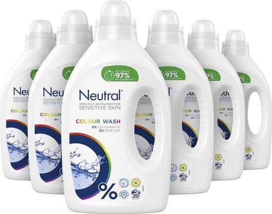 Neutral Vloeibaar Wasmiddel Kleur - 6 x 1L - Voordeelverpakking