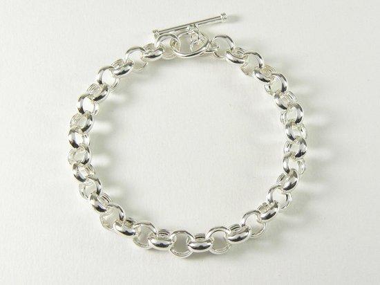 Zilveren armband met jasseron schakels - pols 17 cm