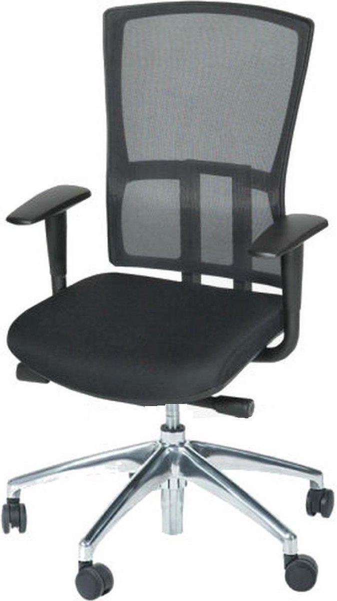 Schaffenburg 300 | Ergonomische bureaustoel voor volwassenen | Stof en mesh | Zwart | Op wielen