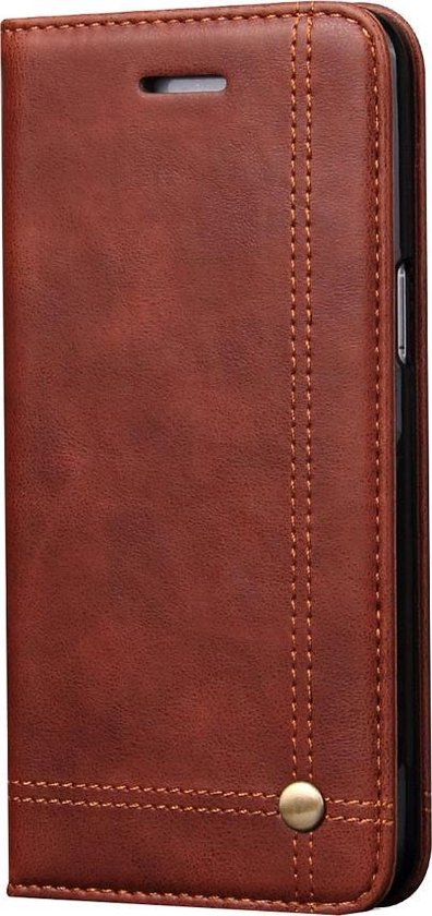 Mobigear Retro Wallet Book Case Bruin Samsung Galaxy S8 Plus