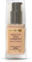 Max Factor Healthy Skin Harmony Foundation - 45 Warm Almond (met security sticker)