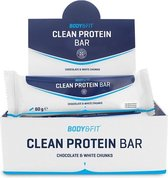 Body & Fit Clean Protein bar - Proteïne Repen -  Chocolate & White Chunks - 12 eiwitrepen