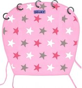 Dooky Universal Cover Zonnescherm kinderwagen - Design Baby Pink / Pink Stars