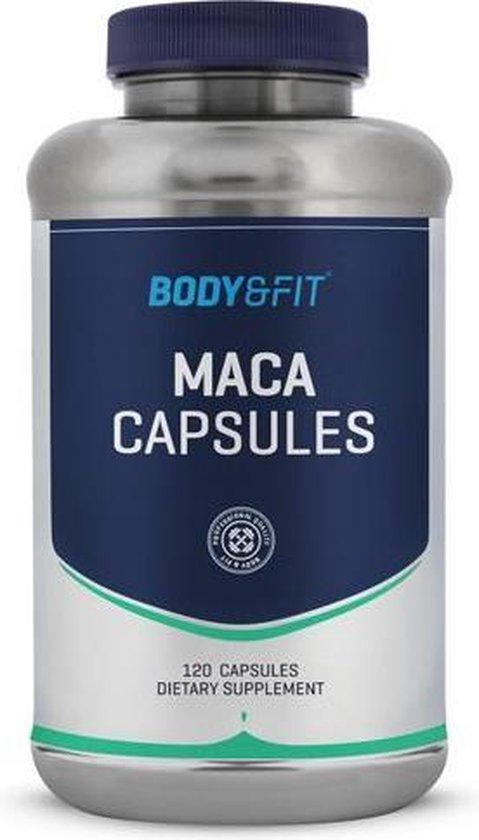 Body & Fit Maca Capsules - 500 mg per capsule - 120 capsules