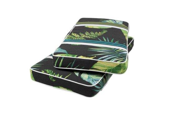 MaximaVida luxe vierkante picknicktafel Tallinn 120 cm met 2 rugleuningen