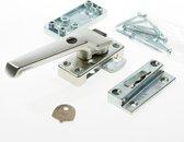 AXA 3320 Veiligheids raamsluiting - 3320-61-92/E - draairichting 4 - Aluminium F2