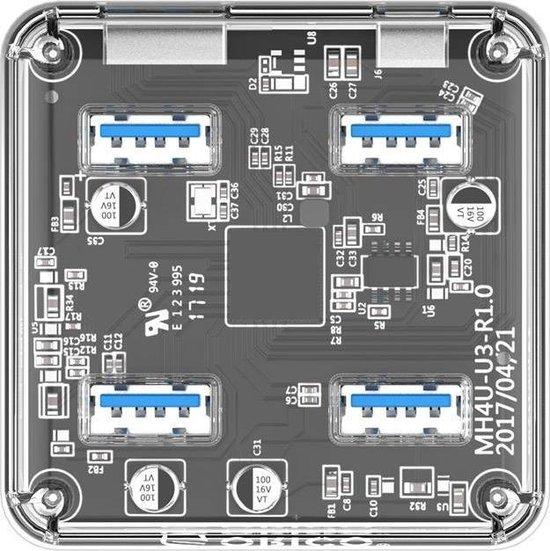 Orico USB 3.0 Hub  4x USB poorten - Transparant