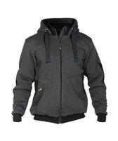 Dassy Profesional Workwear Sweatshirt Jas - Pulse Zwart/antracietgrijs - Mt Xl