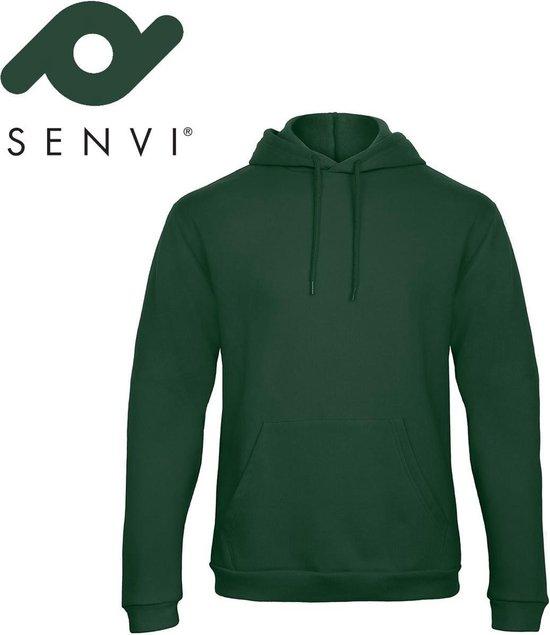 Senvi Fleece Crew Hoodie - Kleur: Groen – Maat M
