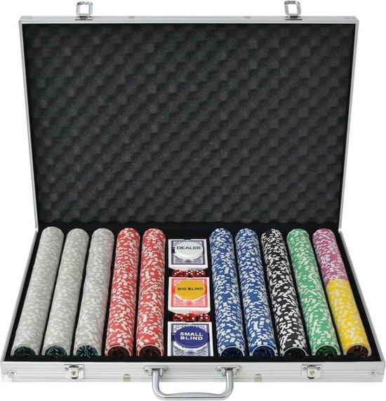 Afbeelding van het spel vidaXL Pokerset met 1000 laser chips aluminium