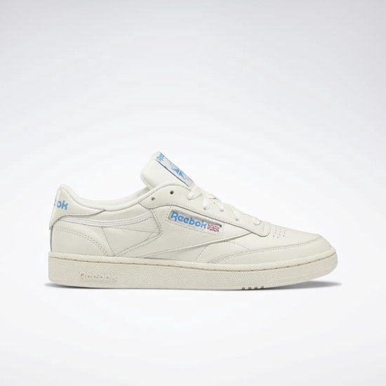 Reebok Club C 85 MU Heren Sneakers - White/Cyan - Maat 41 1/3