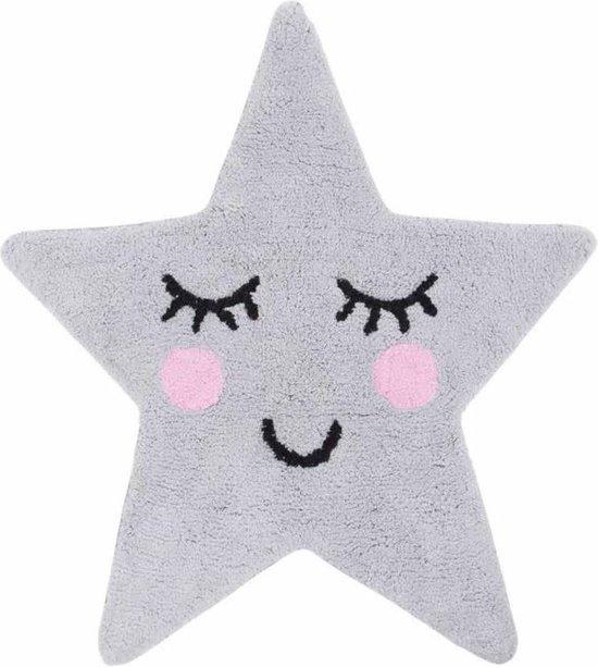 Kinderkamer tapijt ster - Grijze Ster vloerkleedje sweet dream collectie