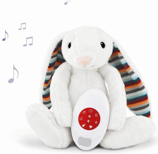 Zazu - Bibi het Konijn - Hartslagknuffel - Muziek knuffel met huilsensor - Deze leuke muziek & hartslagknuffel is heerlijk zacht en door de uitneembare geluidsmodule ook wasbaar! - Genomineerd voor Baby Product van het Jaar