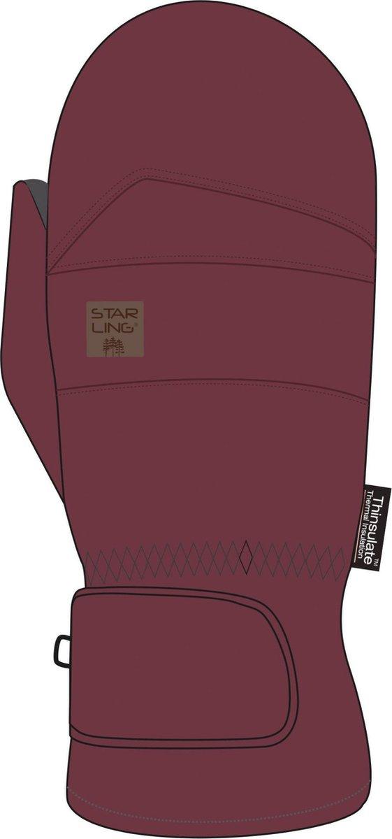 Starling Skiwanten Taslan Jr - Rory - Bordeaux/Zwart - 6/164