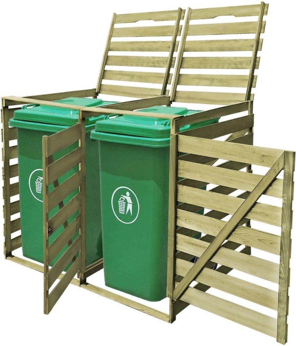 VidaXL Containerberging dubbel 240 L geïmpregneerd hout online kopen