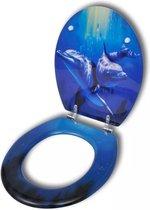 WC-bril met MDF deksel en dolfijn-ontwerp