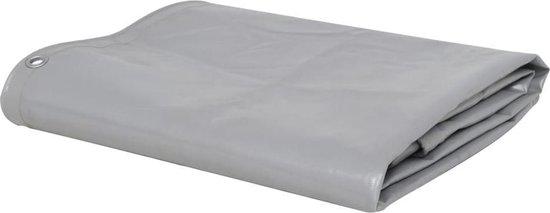 vidaXL Dekzeil 650 g/m² 2.5x3.5 m grijs