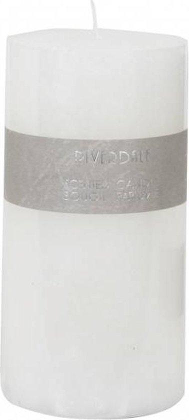 Riverdale Kaars Pillar wit 7,5×15