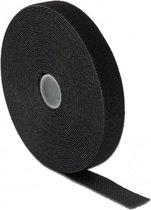 DeLOCK Klittenband rol 20mm / zwart (10 meter)